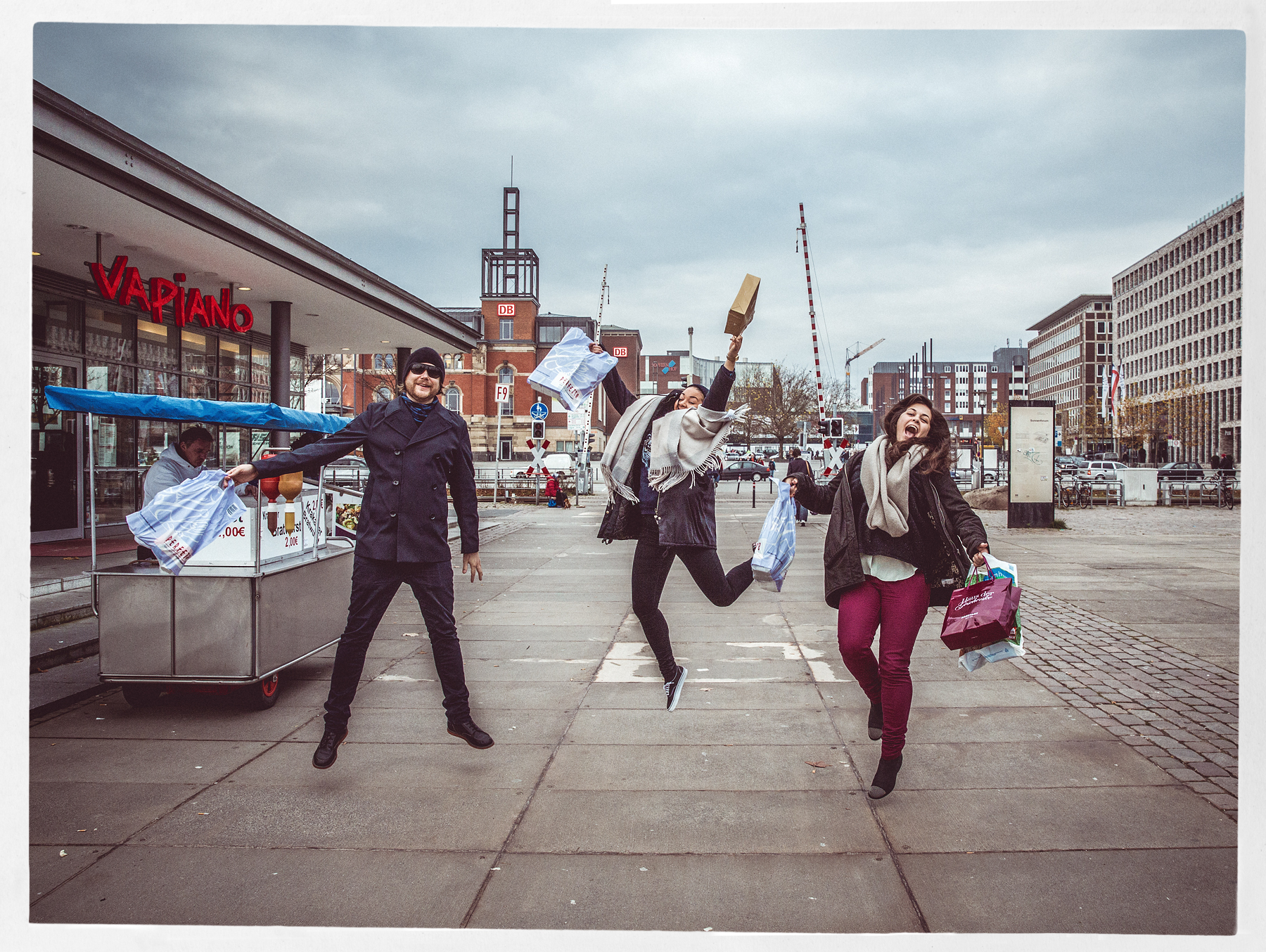Tom, Adiele and Katrine enjoying Kiel..