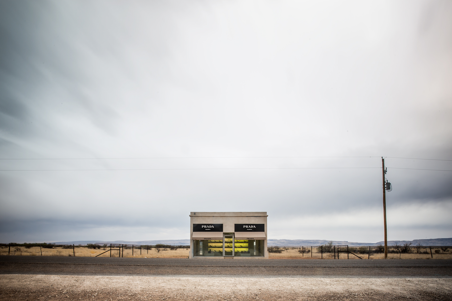 Prada Marfa, Texas USA by Elmgreen and Dragset