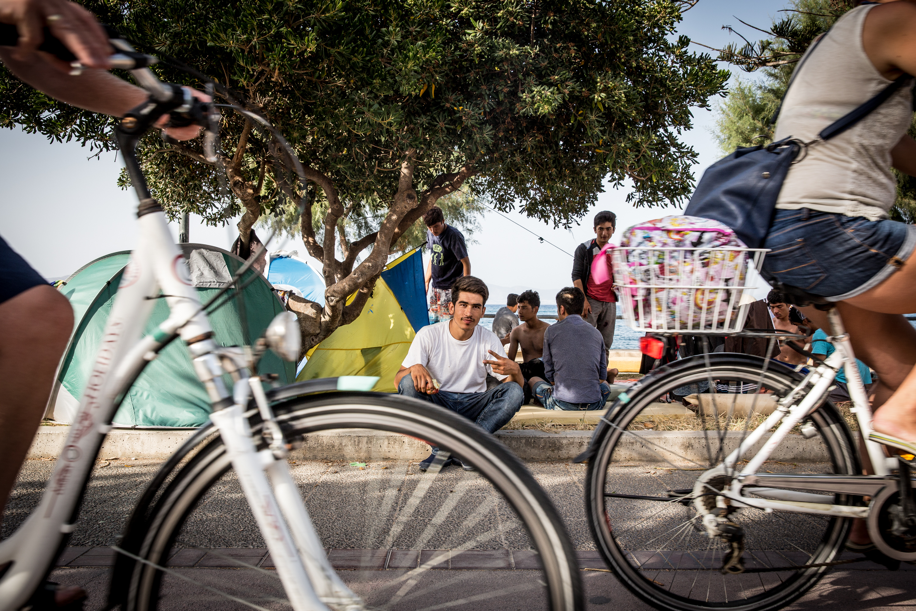 Syrian refugees at the greek Island of Kos