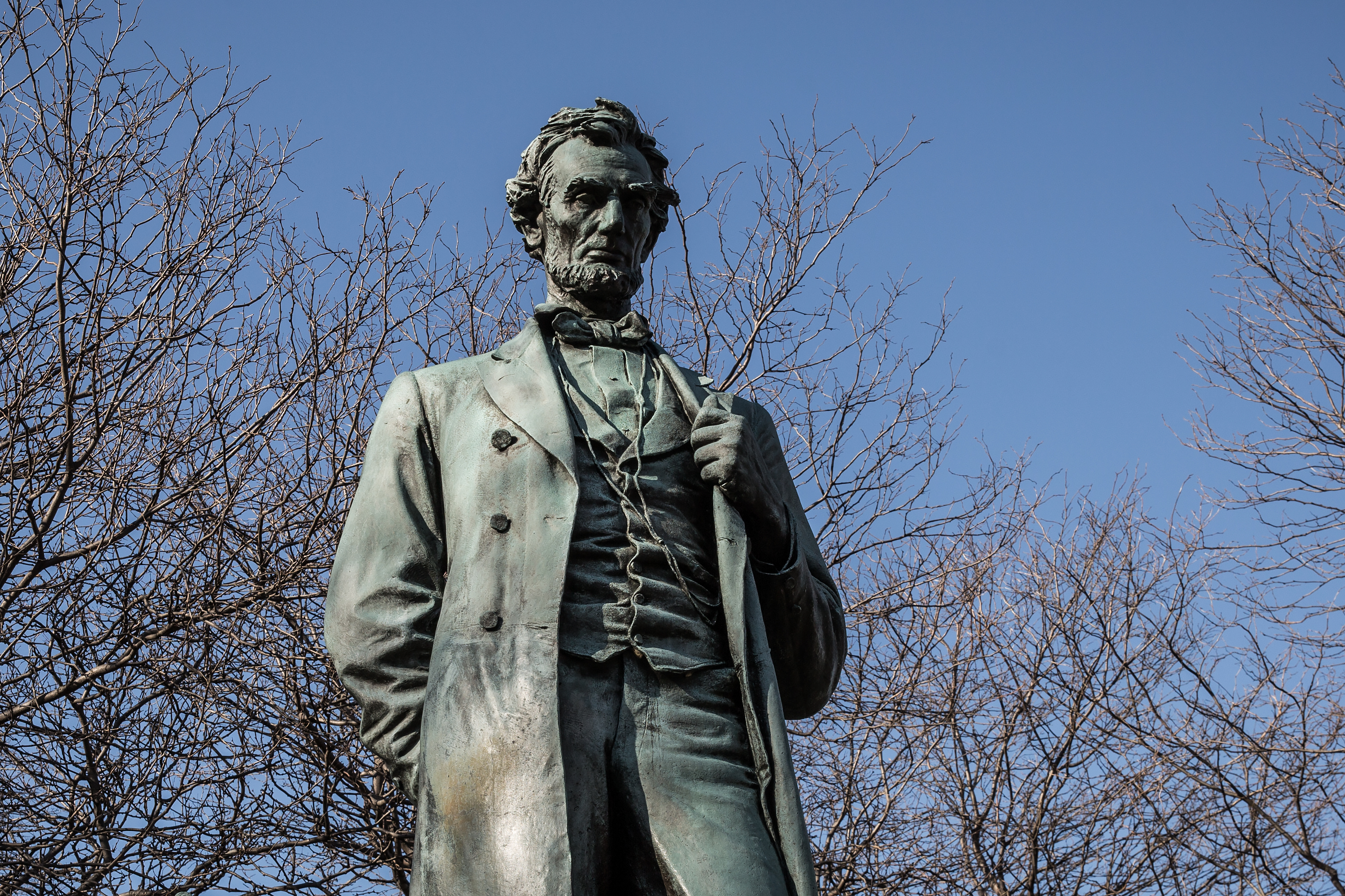 Abraham Lincoln: The Man. Statue in Lincoln Park, Chicago