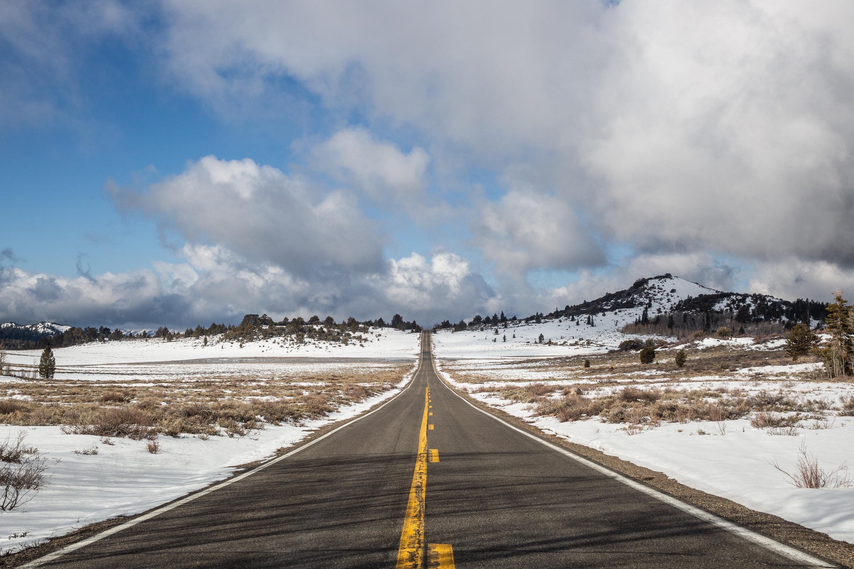Driving up to Lake Tahoe